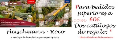 Promoción regalo de catálogos Roco y Fleischmann por Zaratren.com