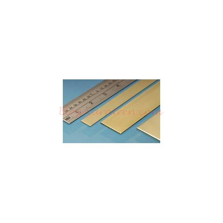 Albion Alloys - Plancha Latón 100 x 250 mm, 0.40 mm de espesor, 1 unidad, Ref: SM7M