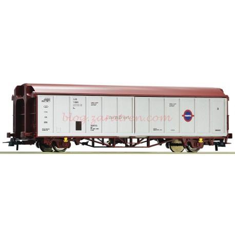 Roco - Vagón Cerrado Tipo Hbillns, Transfesa, Renfe, Época V, Escala H0, Ref: 76786.