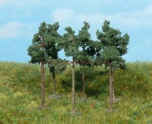 Heki - Lote de 6 pinos de 6 cm de medida, Valido para escala N, Ref: 1152.