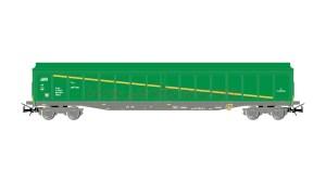 Electrotren - Vagón cerrado, Tipo JJPD, RENFE, Verde, Epoca V-VI, Escala H0. Ref: E6536.