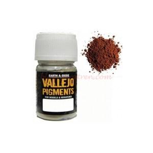 Vallejo - Pigmento Ocre Rojo Oscuro. Bote 30 ml. Ref: 73.107.