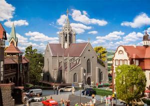 Faller - Catedral de ciudad, Epoca I, Escala H0, Ref: 130598.