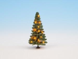 Noch - Abeto de navidad verde y Iluminado, Escala H0, Ref: 22121.