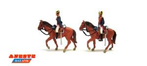 Aneste - Guardia civil de gala a caballo, 2 figuras. Ref: 4436.