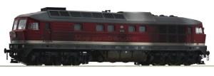 Roco - Locomotora Diesel 132 285-8, DR, Analogica, Envejecida, Escala H0, Ref: 52498.