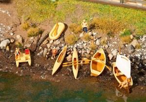 Faller - Barcas y botes a pedales, Epoca IV, Escala H0, Ref: 130513.