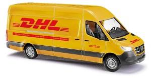 Busch - Furgoneta Mercedes-Benz Sprinter, Reparto mensajeria DHL, Escala H0, Ref: 52605.