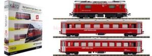 Kato - Set RhB Ge4/4-II 632 Zizers + EW I Rhätische Bahn, Escala N, Ref: 7074049.