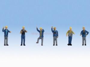 Noch - Trabajadores de maniobras, seis figuras, Escala H0, Ref: 15279.