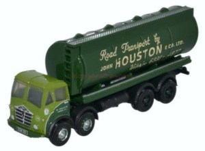 Oxford - Camión Cisterna Foden Fg Round John Houston, Color Verde, Escala N, Ref: NFG008.