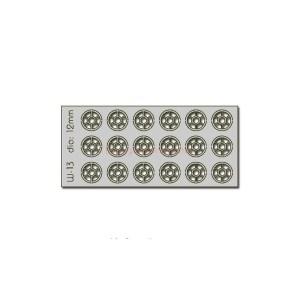 Proses - Conjunto de 18 ventanas de 12 mm de Diametro, Corte Laser, Escala H0, Ref: W-013.