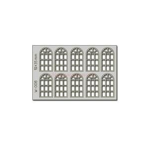 Proses - Conjunto de 10 ventanas de 19 x 35 mm, Corte Laser, Escala H0, Ref: W-006.