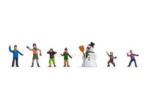 Noch - Niños en la nieve, siete Figuras, Escala N, Ref: 36821.