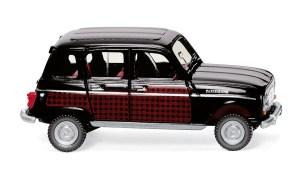 """Wiking - Renault R4 """" Parisienne """", Color Rojo con capota y techo negro, Escala H0, Ref: 022405."""