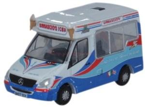 Oxford - Furgoneta Mercedes de venta ambulante de Helados Dimascios, Escala N, Ref: NWM002.