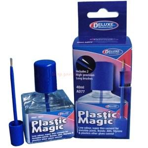 Deluxe - Pegamento Plastico Liquido, Plastic Magic, Bote de 50 ml. Ref: 276AD77.