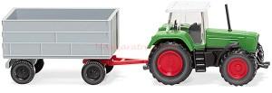 Wiking - Tractor Fendt Favorit mit con remolque, Escala N, Ref: 096003
