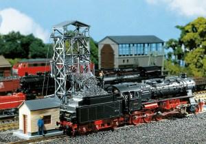 Faller - Montacargas elevador para carga de carbón en locomotoras, Escala H0, Ref: 120220.