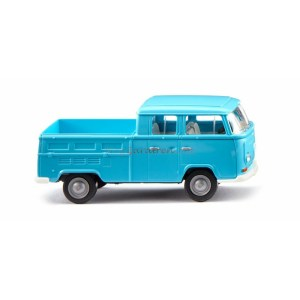"Wiking - Furgoneta Wolkswagen T2, "" Cabina Doble "", Color Azul, Escala H0, Ref: 031404."