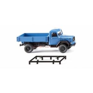 Wiking - Camión Volquete ( Magirus-Deutz ) Plataforma Plana, Escala H0, Ref: 042499.