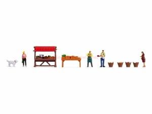 """Noch - Figuras tematicas """" Puesto de venta de verduras """", 11 Piezas, Escala H0, Ref: 16225"""