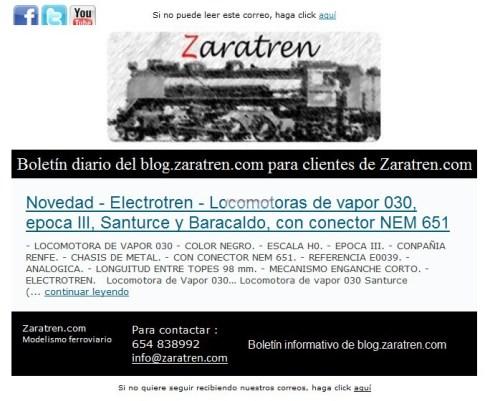 """Zaratren - Boletines zaratren.com, recomendaciones para elegir """"Diario o Semanal"""""""