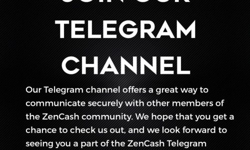 Join the ZenCash Telegram Channel for Secure Talk