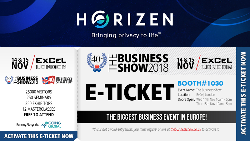 Horizen Invites You To The Business Show - Europe's Largest Business Exhibition
