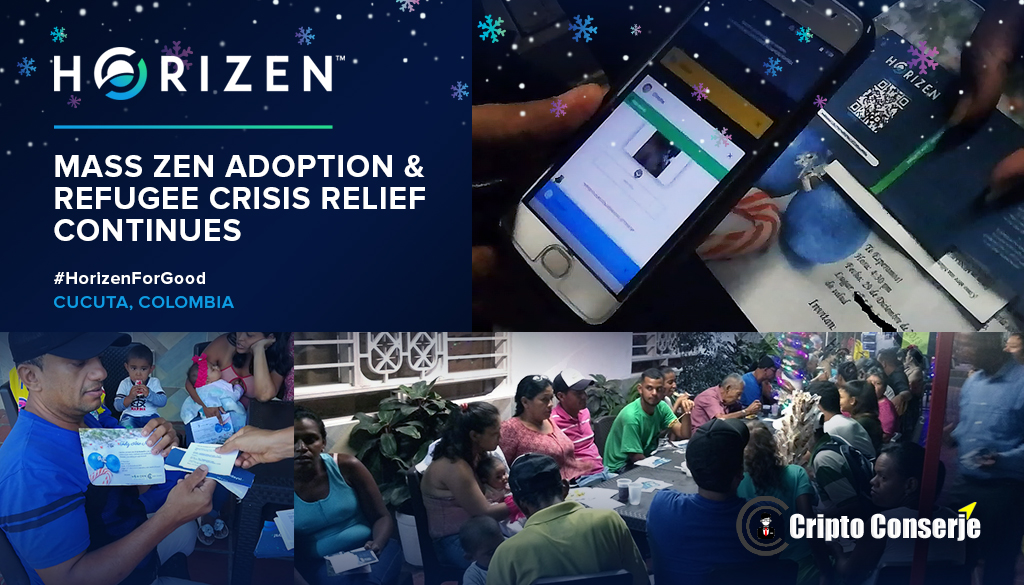 Horizen and Cripto Conserje Ring in the New Year with Venezuelan Refugees
