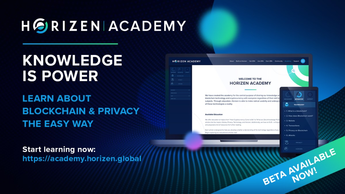 Horizen Launches Horizen Academy - A Free Educational Resource on Blockchain Technology and Privacy