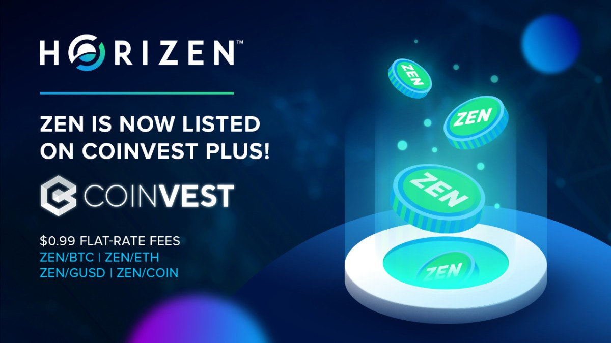 Horizen Is Now Available to Trade on Coinvest Plus!