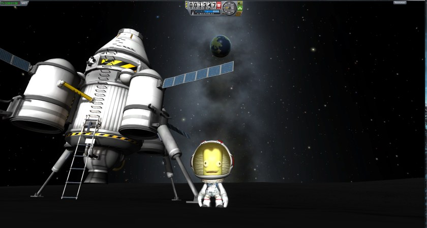 Putting a Kerbal on the Mun!