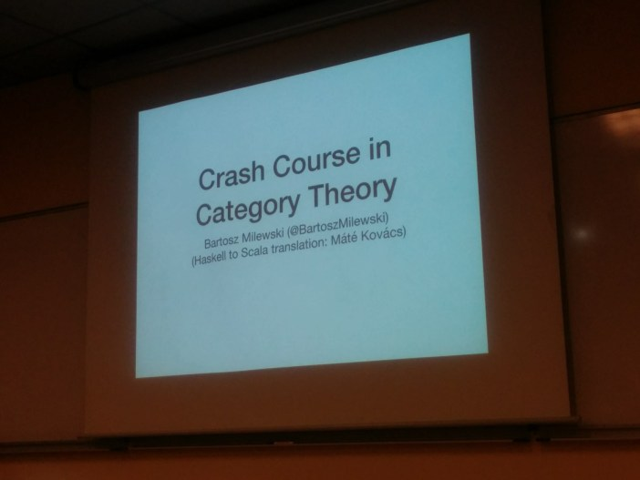 Crash course in Category Theory