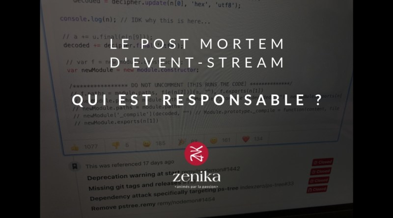 Le post-mortem d'Event-stream - responsable