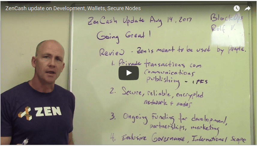 Video Update - Secure Nodes in Alpha Testing, Wallet Updates