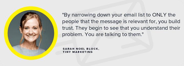 Sarah Noel Block copywriter