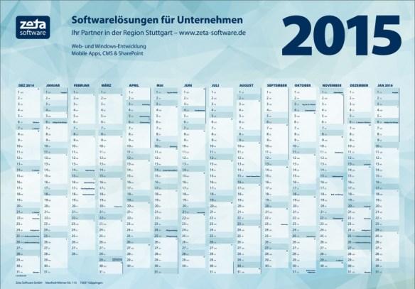 Kostenloser Wandkalender 2015