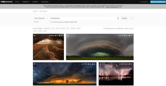 Gewitterfotos auf Fotocommunity