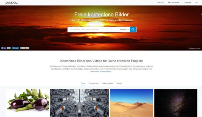 Pixabay Startseite