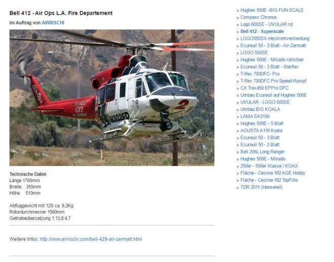 Screenshot von rc-heli.cc