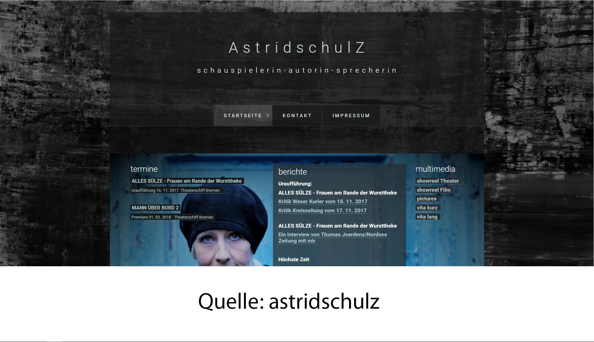 Schauspieler-Homepage: einfach selber erstellen! | Professionelle ...