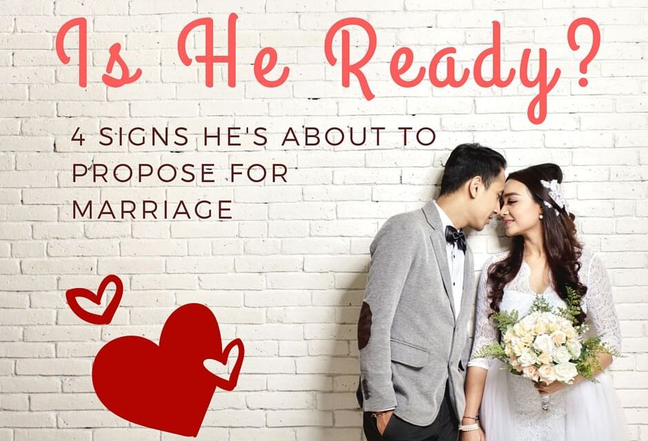 Is He Ready? 4 Signs He's About to Propose for Marriage