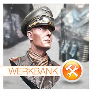 Life Miniatures • Generalfeldmarschall Erwin Rommel • Bemalung einer Büste
