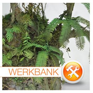 Dschungel-Vegetation aus Papier-Pflanzen
