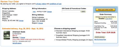 Place Your Order  Amazon com Checkout