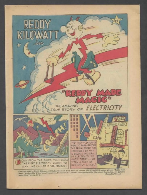 Reddy Kilowatt 001 Reddy Made Magic  cover only 1946