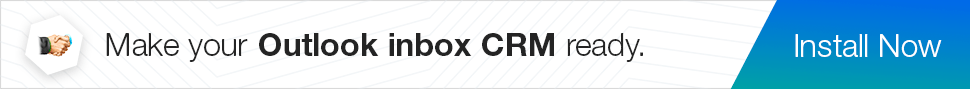 Obtenha o suplemento Zoho CRM para Outlook