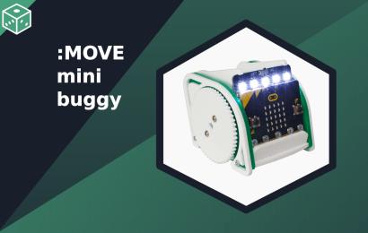 Ako sa robot Kitronik :MOVE mini MK2vyhýba prekážkam