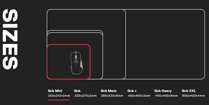 steelseries-qck-mini-mousepad size